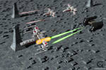 Mini XWing and Tie Fighter
