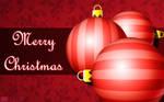 Red Christmas Ball Card