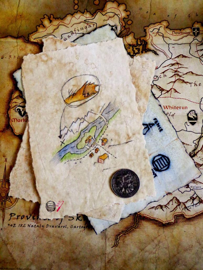Skyrim Treasure Map by KnightRanger on DeviantArt