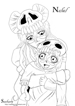 Nelliel and Nel - Lineart