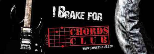 chords club bumper sticker