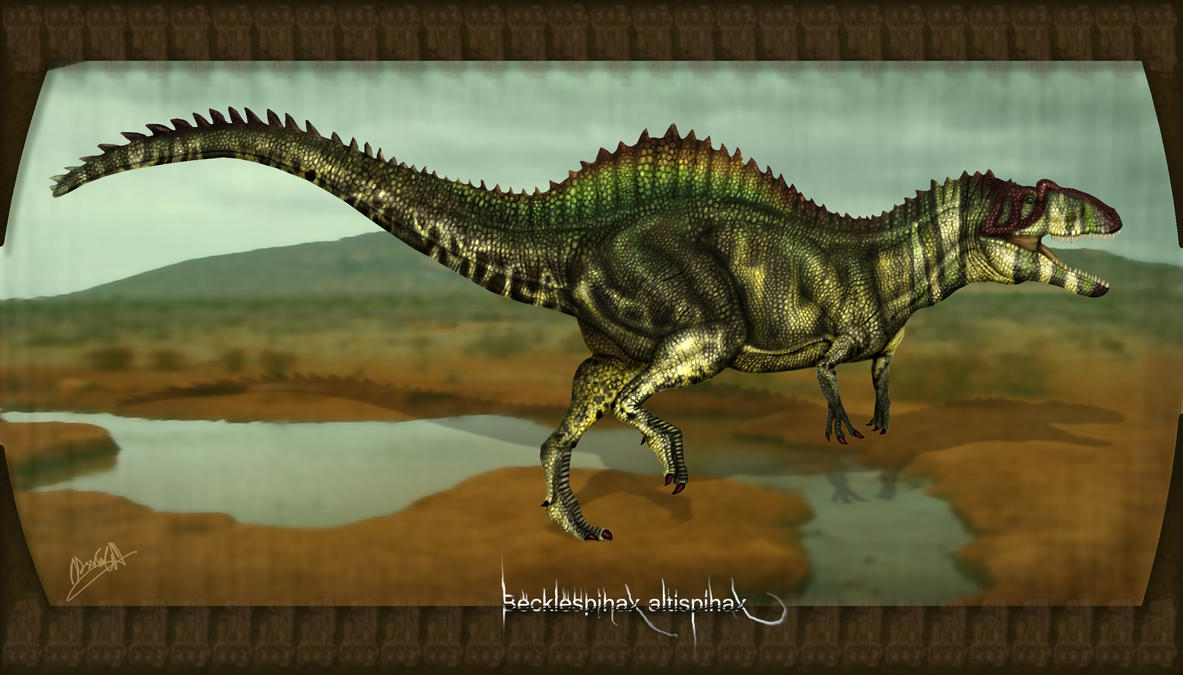 Becklespinax altispinax by karkemish00
