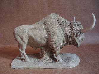 Bison aguascalientensis clay by karkemish00
