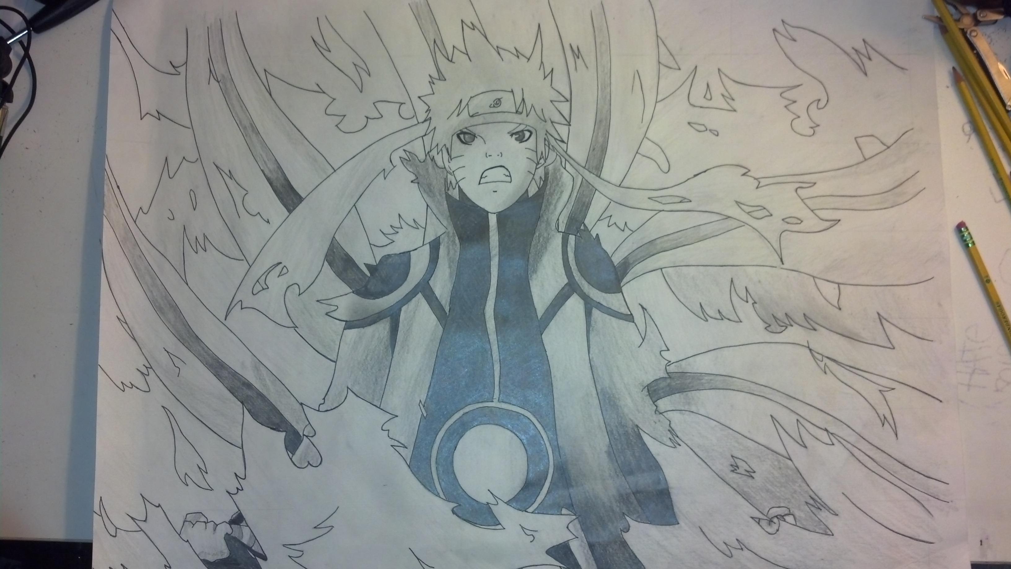 Naruto Bijuu Mode (Fan art) by UzumakiKarin on DeviantArt