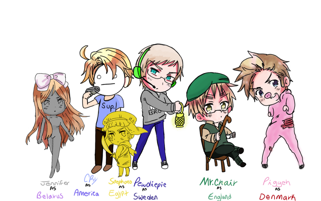 Pewdiepie / Hetalia Crossover by XxCelestialTigerxX on ...