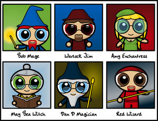 Wizard Card Portraits by Dragavan