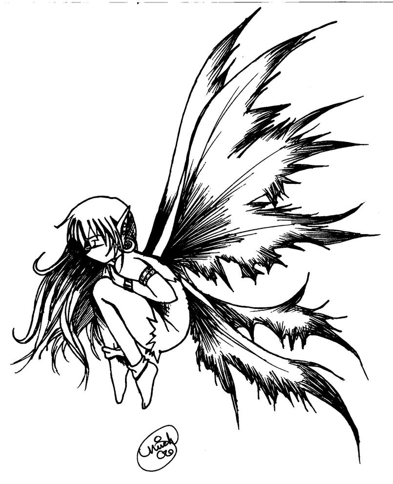 sad fairy coloring pages - photo#9