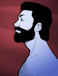 Man in Blue by Lamme