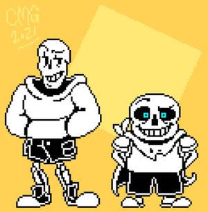 (FINAL REMASTER) Underswap - Boneheads sprites