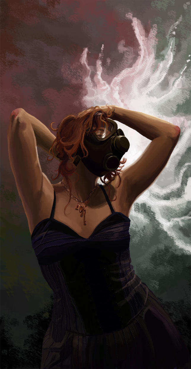 Cock woman gas mask porn here