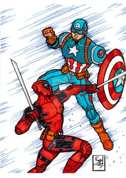 Deadpool Vs Captain America