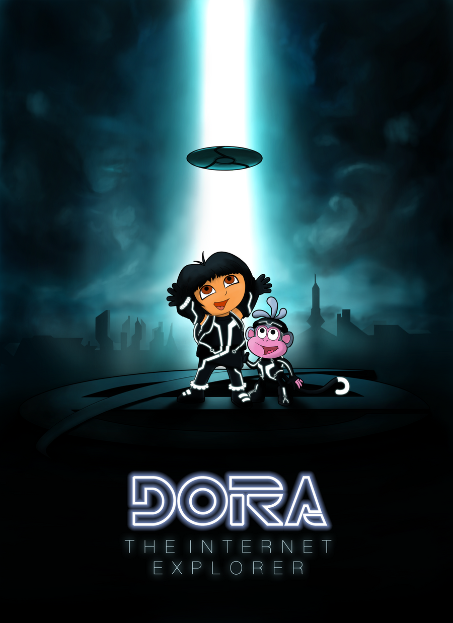 Dora the Internet Explorer by Draggeta