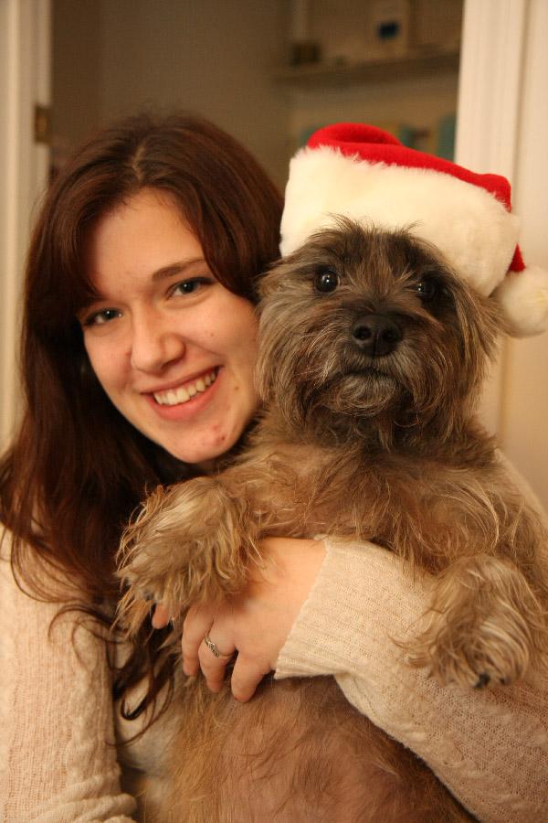 Cute Christmas Dog by froggynaan