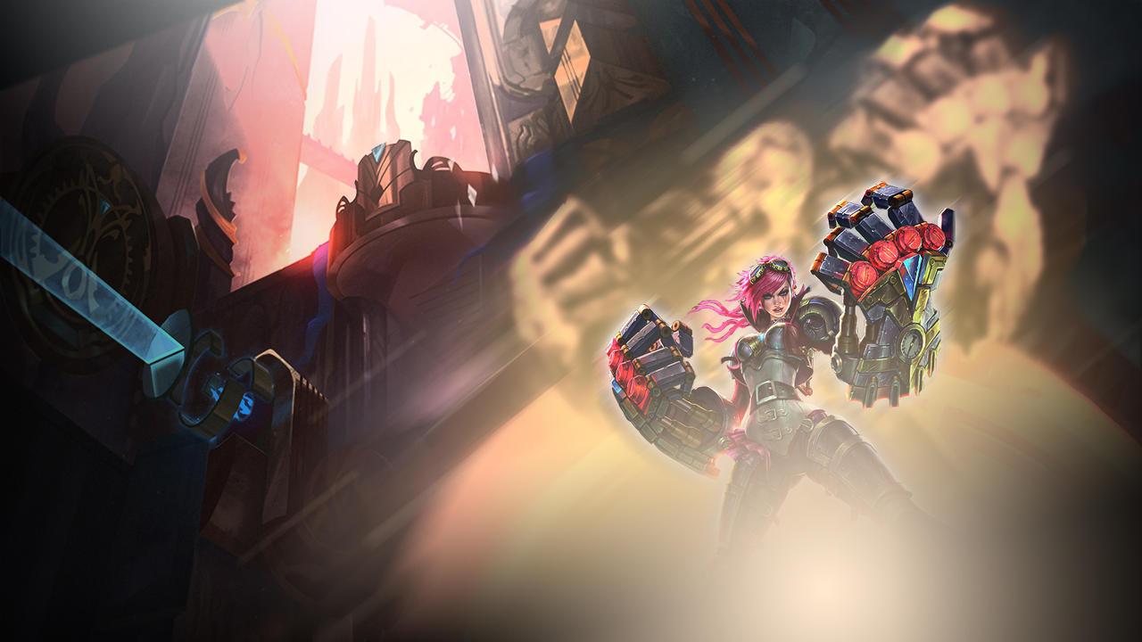 Vi Wallpaper 1920x1080 League Of Legends By Zuperkim On Deviantart