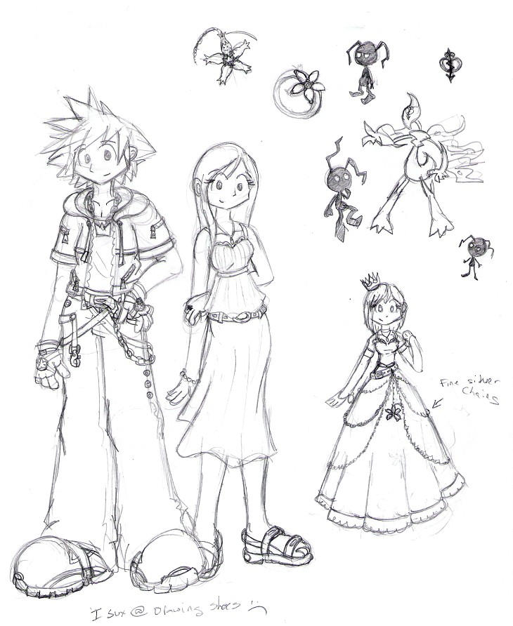 Sora and Kairi at 16, ficstuff by MiriamTheBat