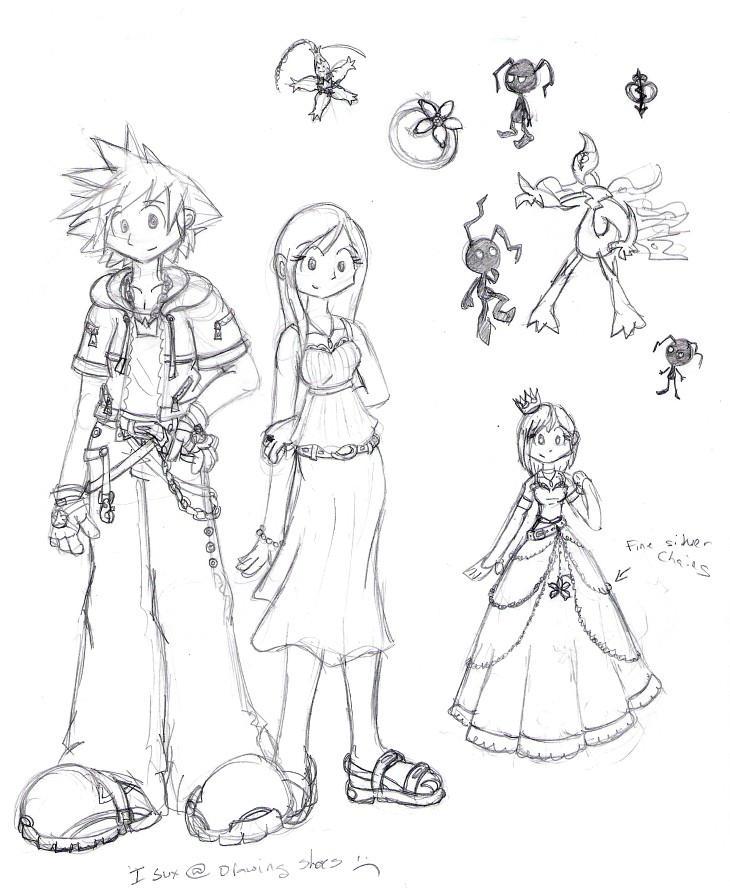 Sora and Kairi at 16, ficstuff by MiriamTheBat