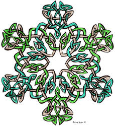 Cut-out Freehand Celtic Knot