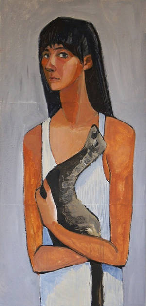 Girl with polecat