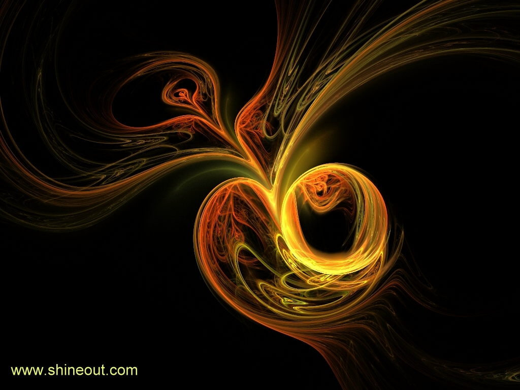 Golden Apple Wallpaper by shineout-fractals