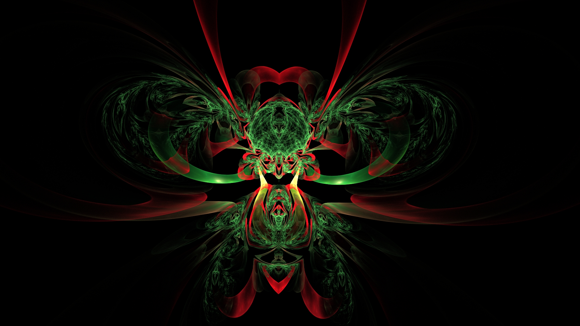 Green and red bug by shineout-fractals