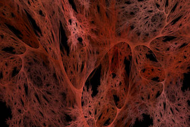 Fire Cobweb print by shineout-fractals