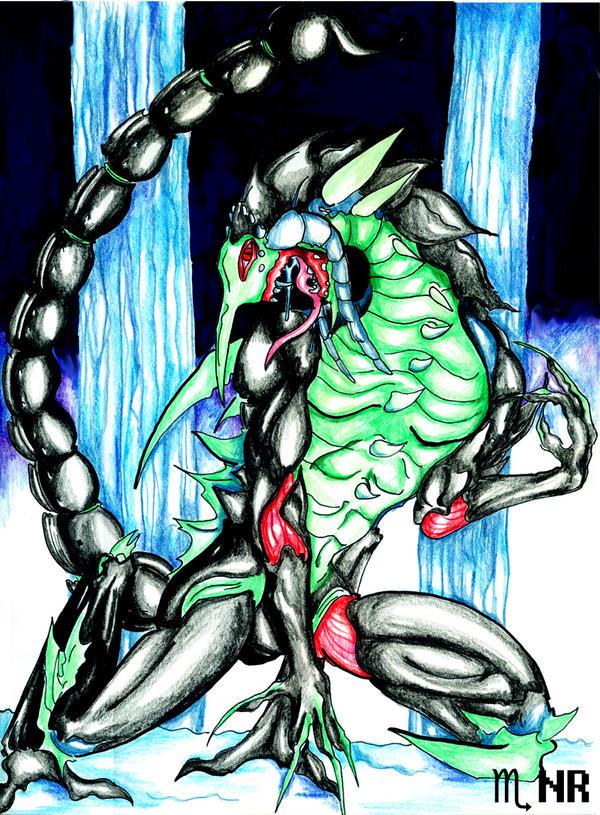 Zodiac Dragons: Scorpio by MilkToothCuts
