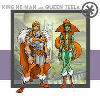 King He-Man and Queen Teela by thejason10