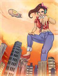 Giantess D.VA by Velvet-Lily