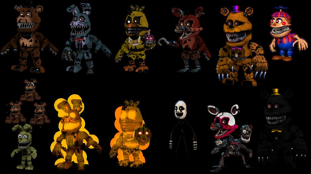 Фнаф персонажи с фото