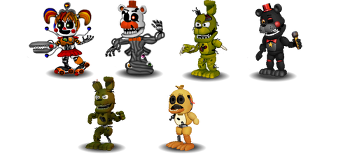 adventure fnaf 6 Characters