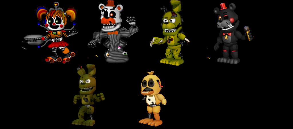 adventure fnaf 6 Characters by aidenmoonstudios on DeviantArt
