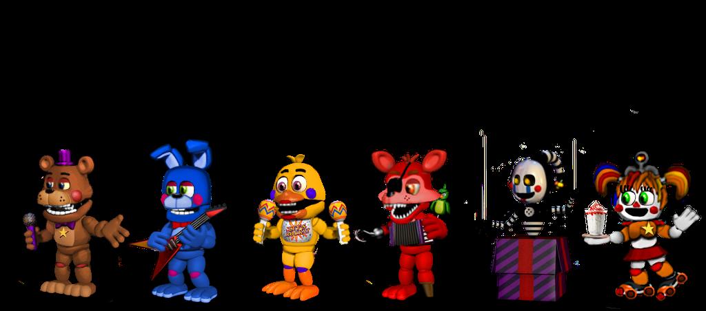 adventure fnaf 6 Rockstar Characters by aidenmoonstudios on