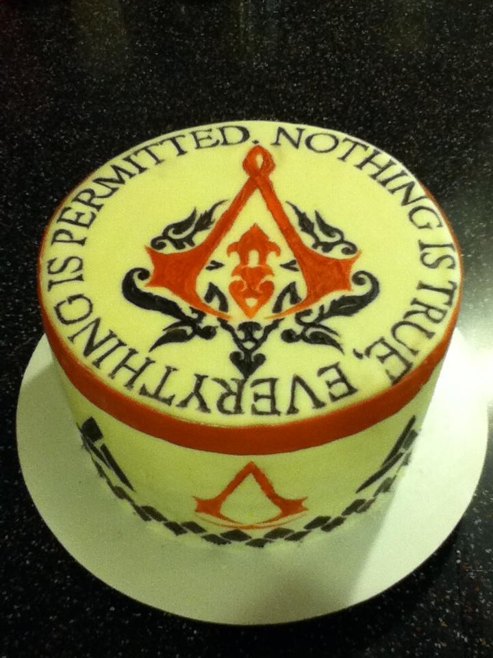 Assassin Creed Symbol Cake
