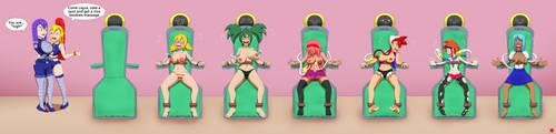 Testing out a new massage machine by Kusukuri