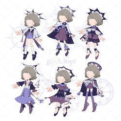 Chibi Outfit Adopt # 02 Star Heaven (Open)