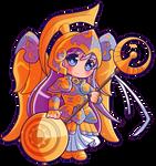 Saint Seiya: Saori/Sasha in her Athena cloth