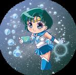 Sailor Mercury Button