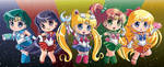 Sailormoon Buttons inner senshi full set! by Hadibou