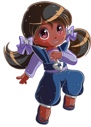 Commission :: Rainbow Brite 6/8 - Indigo Doll by Hadibou