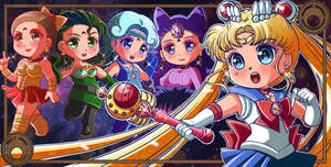 Black Moon Clan: Sailor Moon VS Ayakashi's Sisters