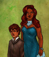 Astoria Greengrass-Malfoy and Son by absolutelyspiffing