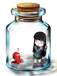 CR : in bottle by ekographartsign