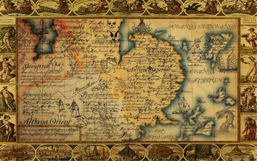 The Antique Map of East Althena by JaySimons on DeviantArt