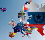 Alternate Europe Flag Map