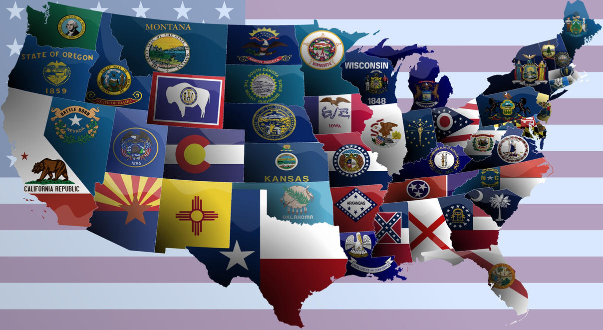 United States Of America Flag Map By JaySimons On DeviantArt - Us flag map