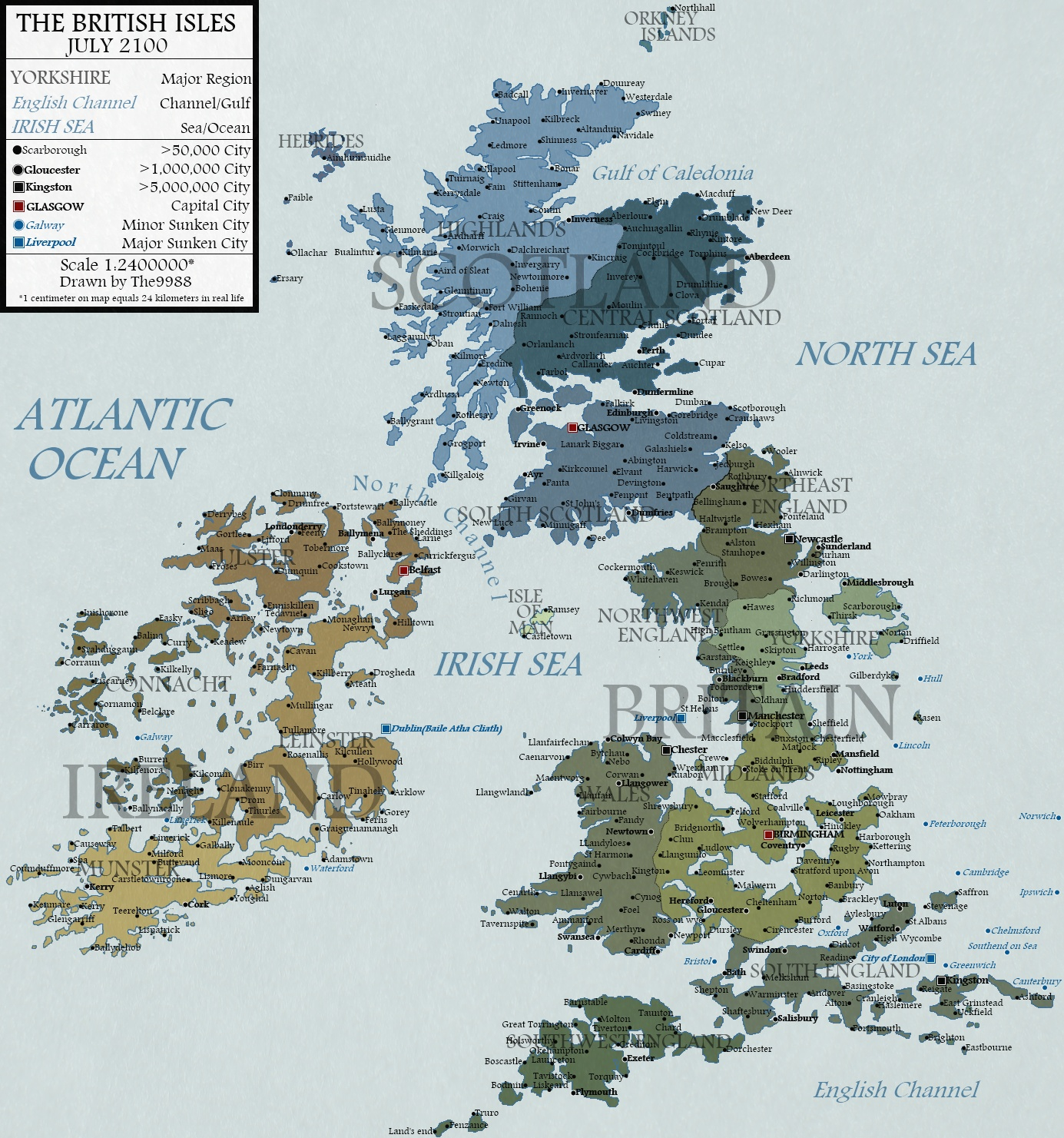 Map Of Uk If Sea Levels Rise.British Isles In 2100 By Jaysimons On Deviantart