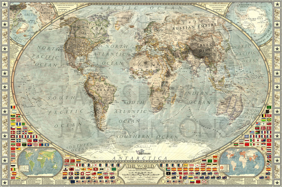 The World By JaySimons On DeviantArt - Map of us 1875