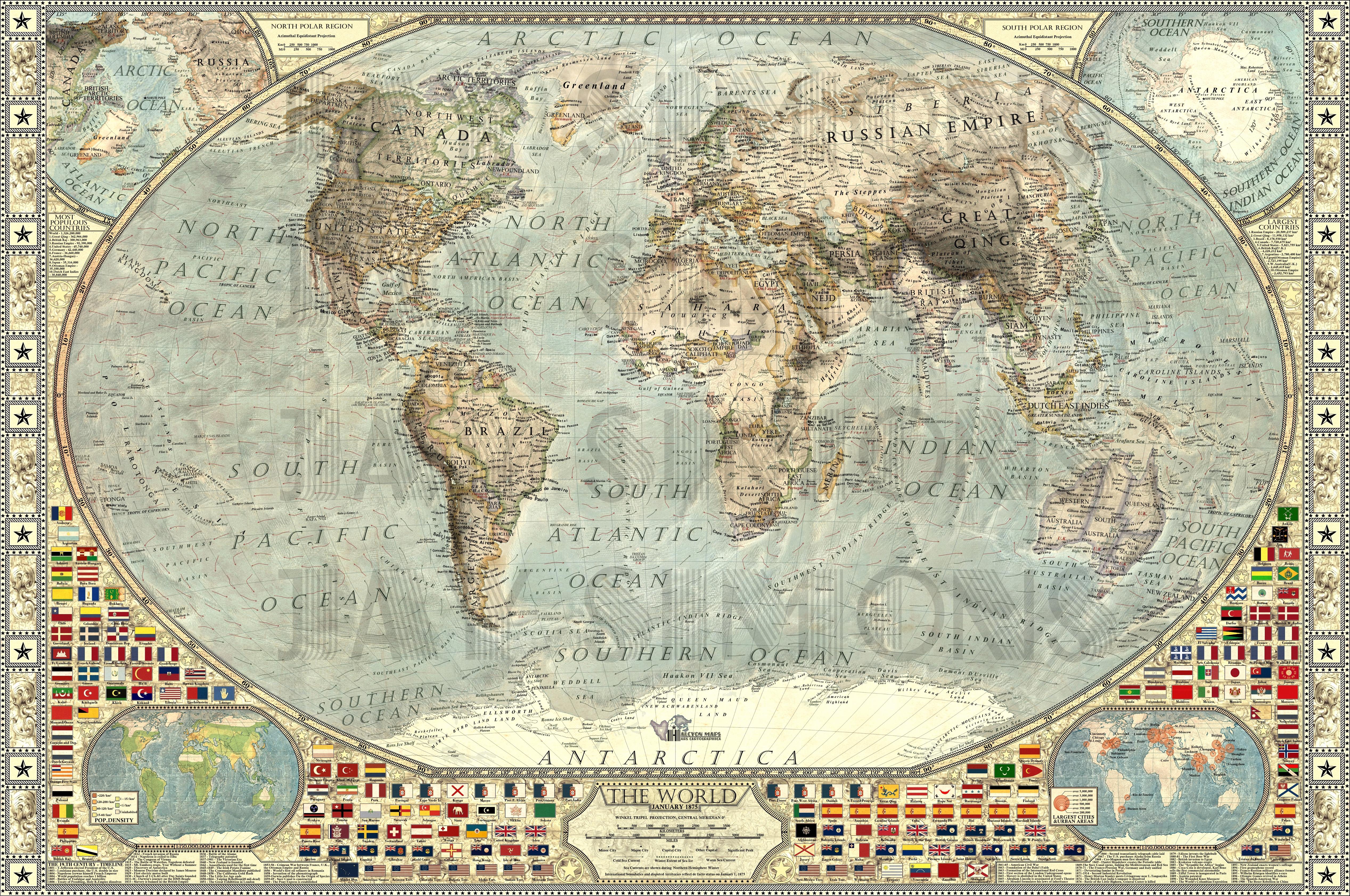 Decorative world map instadecor decorative world map gumiabroncs Images