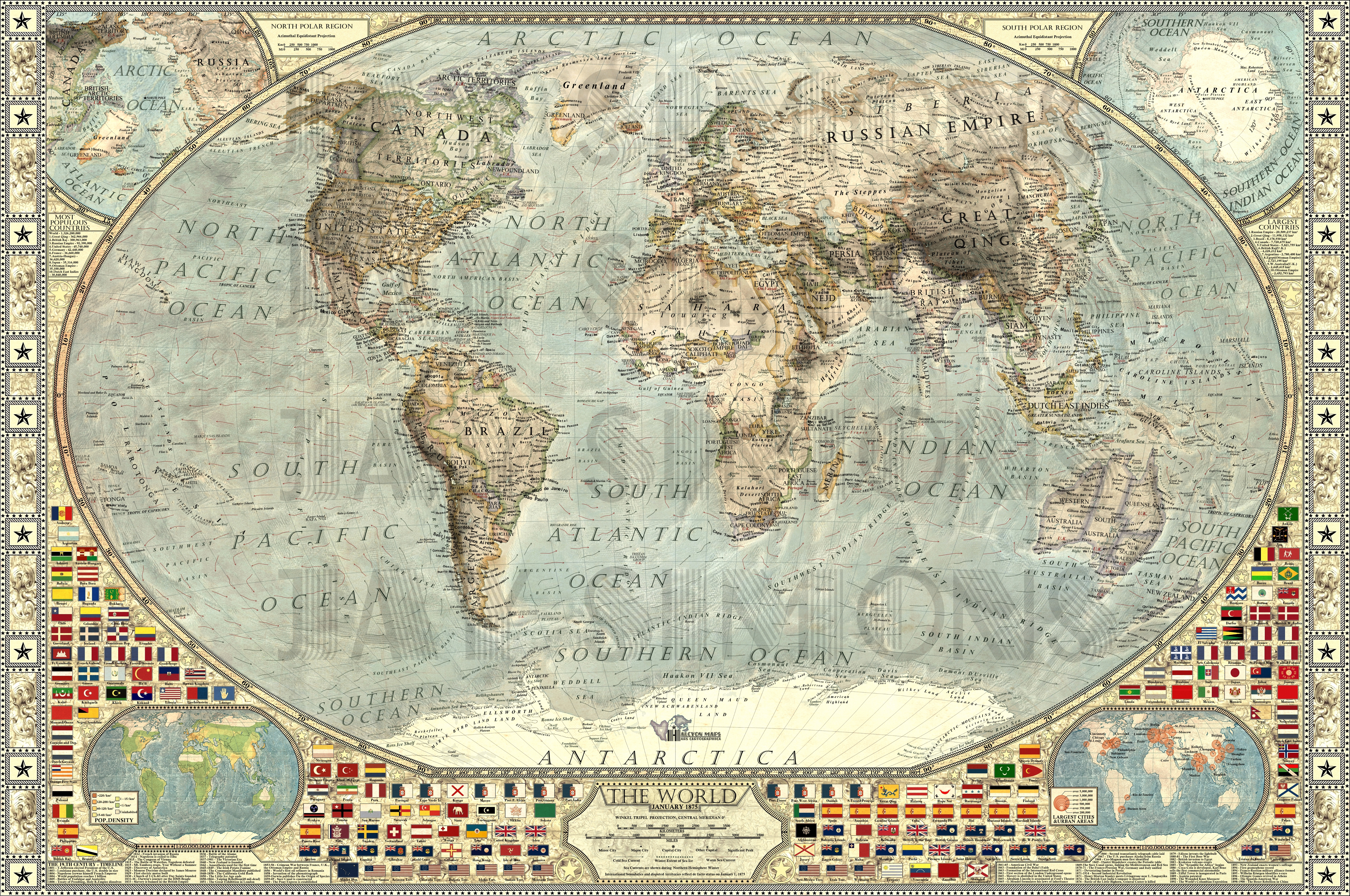 The World By JaySimons On DeviantArt - Victorian world map