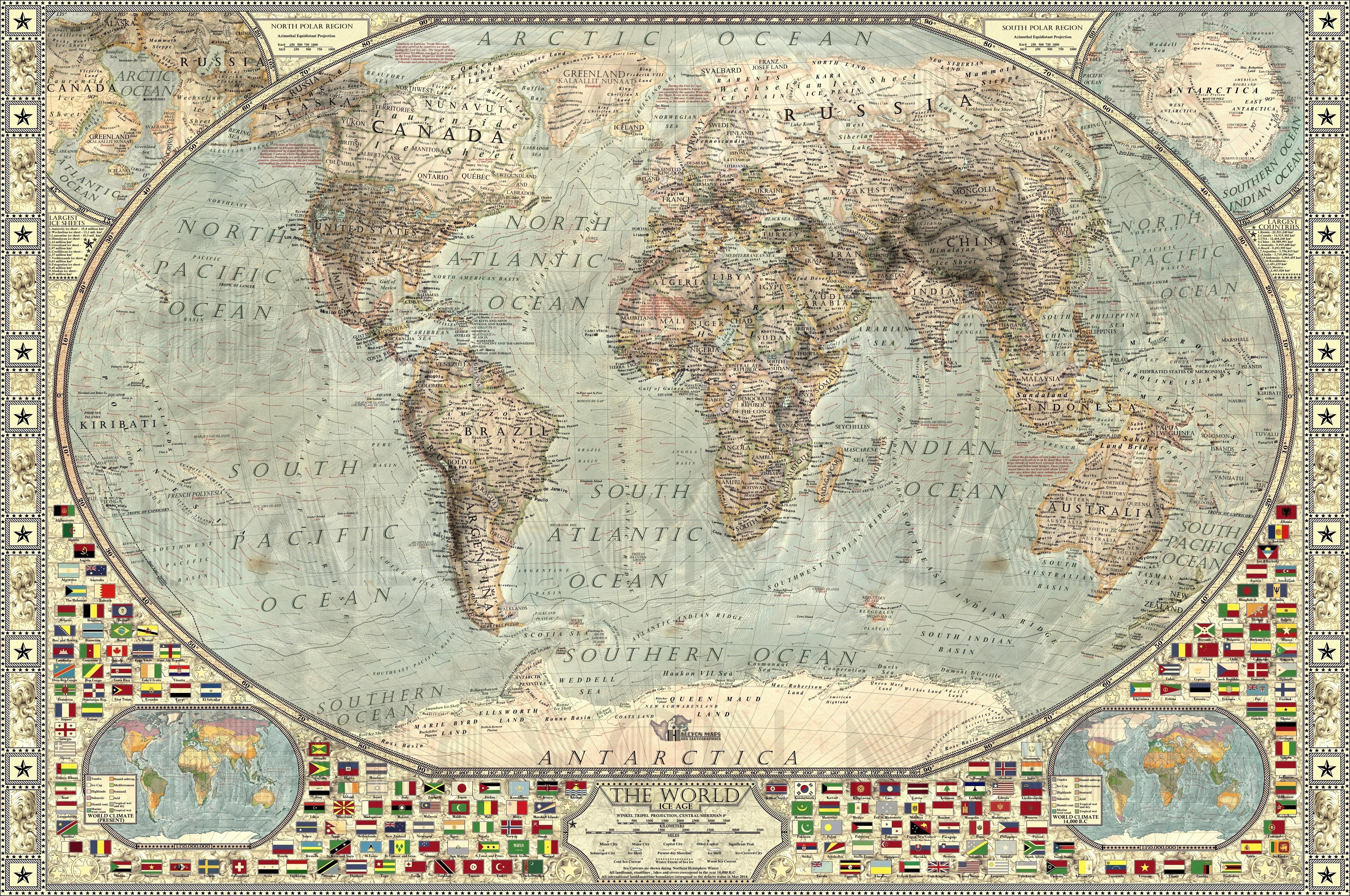 Cartina Italia 20000 Anni Fa.1x4x9 Il Mondo 16000 Anni Fa Una Mappa Incredibile